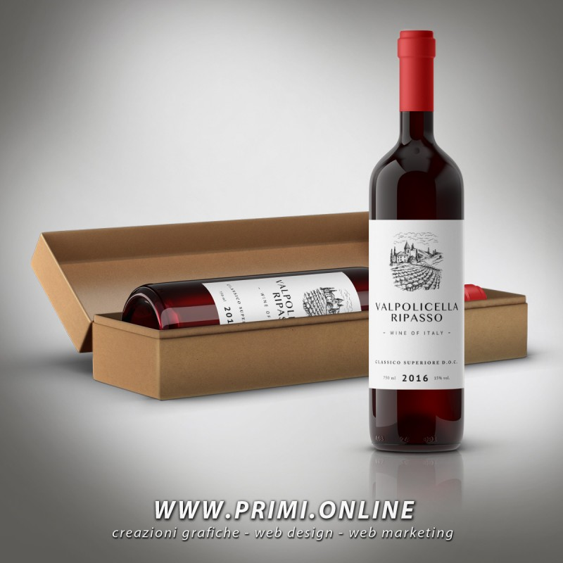 Wine Label Creation, simple graphics